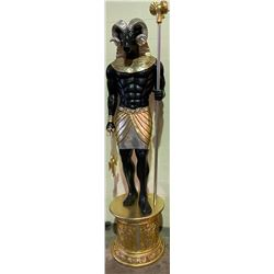 APPROX 7.5' TALL STATUE KHNUM EGYPTIAN GOD OF THE SOURCE OF THE NILE