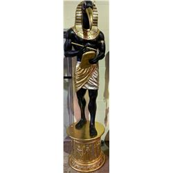 APPROX 7.5' TALL STATUE THOTH EGYPTIAN GOD OF WRITING, MAGIC, WISDOM, AND THE MOON