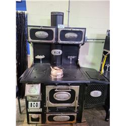 THE MALLEABLE STEEL RANGE MFGCO SOUTH BEND IND US VINTAGE STYLE CAST IRON WOOD BURNING STOVE NEVER