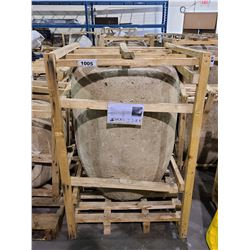 "CISTERN STONE PLANTER LARGE NW 300KG GW 320KG APPROX. H 43"" W 31"""