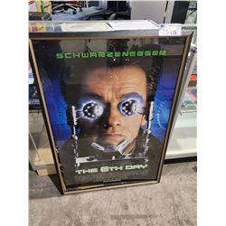 THE 6TH DAY MOVIE POSTER AUTOGRAPHED BY ARNOLD SCHWARZENEGGER WITH CERTIFICATE OF AUTHENTICITY