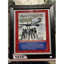 IRON MAIDEN FLIGHT 666 POSTER AUTOGRAPHED