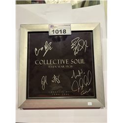 COLLECTIVE SOUL 7EVEN YEAR ITCH GREATEST HITS 1994-2001 AUTOGRAPHED WITH CERTIFICATE OF