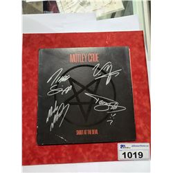 MOTLEY CRUE SHOUT AT THE DEVIL LP AUTOGRAPHED VINYL WITH CERTIFICATE OF AUTHENTICITY