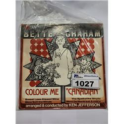 BETTE GRAHAM COLOUR ME CANADIAN AUTOGRAPHED VINYL
