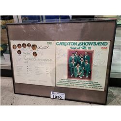 FRAMED CARLTON SHOWBAND BEST OF VOL. 2 & 3 AUTOGRAPHED VINYL