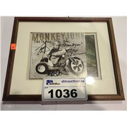 FRAMED MONKEYJUNK TIME TO ROLL AUTOGRAPHED CD