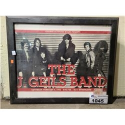 FRAMED THE J. GEILS BAND POSTER WITH ORIGINAL TICKET STUB