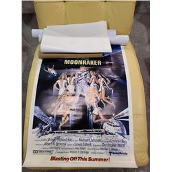 ASSORTED AUTOGRAPHED MOVIE POSTERS, MOONRAKER, & BATTLE STAR GALACTICA POSTER