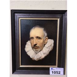 FRAMED CORNELIUS VAN DER GEEST AFTER VAN DYKE PAINTING SIGNED BY BRIAN MACNEIL