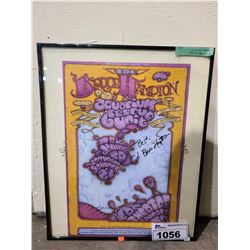 FRAMED BRUCE HAMPTON & THE AQUARIUM RESCUE UNIT AUTOGRAPHED POSTER