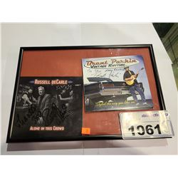 FRAMED RUSSELL DECARLE ALONE IN THE CROWD AUTOGRAPHED CD & BRENT PARKIN VINTAGE RHYTHM AUTOGRAPHED