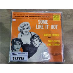 SOME LIKE IT HOT BILLY WILDER PRODUCTION VINYL