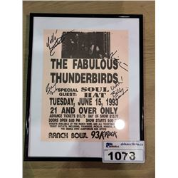 FRAMED THE FABULOUS THUNDERBIRDS AUTOGRAPHED POSTER