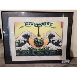 THE FIRST ANNUAL RIVERFEST PRINT SIGNED BY EMEK LEP 118/150 WITH CERTIFICATE OF AUTHENTICITY