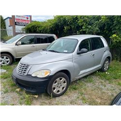 2006 CHRYSLER PT CRUISER, GREY, 4DRSD, GAS, AUTOMATIC, OOC HAS BC REG. VIN#3A4FY48B36T275240,