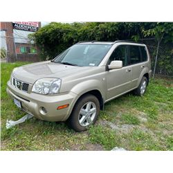 2006 NISSAN XTRAIL SE, BROWN, 4DRSD, GAS, AUTOMATIC, VIN#JN8BT08T46W100255, DEAD BATTERY KMS TO