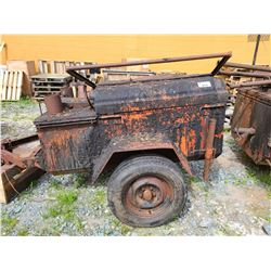 1997 UTILITY KETTLE TRAILER, ORANGE VIN#NIL