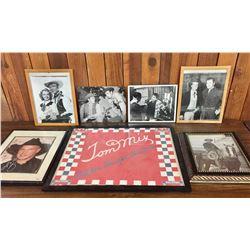 6 Western Autographed Photos and a Tom Mix Bandana