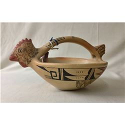 Award Winning Hopi Pot and Book - Ethel Muchuo