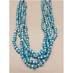 Multi Strand Turquoise and Shell Necklace