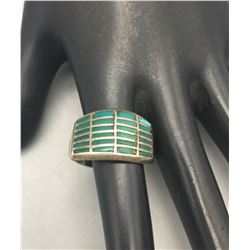 Vintage Turquoise Inlay Ring
