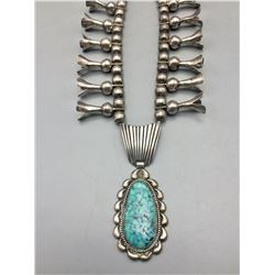 Unique Squash Blossom Style Necklace