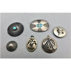 Group of Vintage Pendants, Pins and Buttons