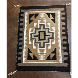 Vintage Two Grey Hills Navajo Textile