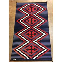 Vintage Navajo Textile With Weaver's Info