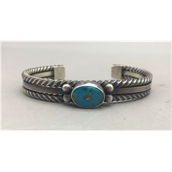 Vintage Twisted Wire Turquoise Bracelet