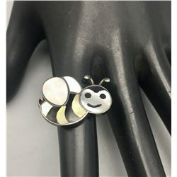 Zuni Inlay Bumble Bee Ring