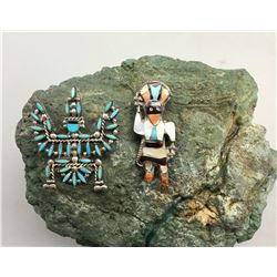 Two Zuni Pins/Pendants