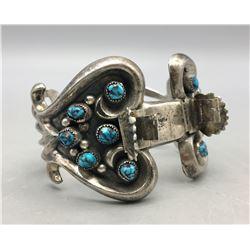 Vintage 12 Stone Turquoise Watch Bracelet.
