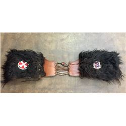 Buffalo Hide and Beaded Saddle Bags