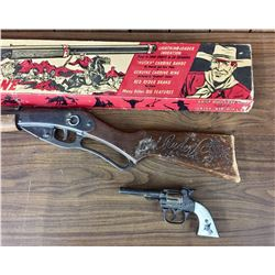 1939 Red Ryder BB gun with Box and Early Cap Gun