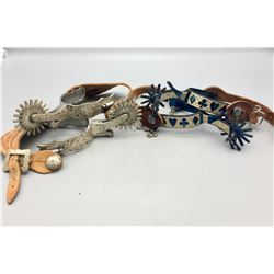 2 Pairs of Fancy Mexican Spurs