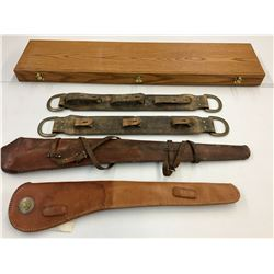 Presentation Box, Rifle Displays And Scabbards