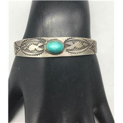 Old Turquoise Bracelet with Whirling Logs