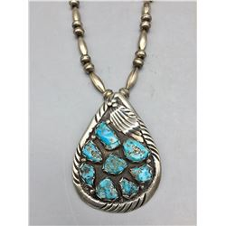 Vintage Eight Stone Turquoise Necklace
