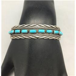 Vintage 10 Stone Turquoise Bracelet