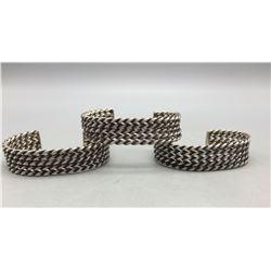 3, Five-Row Twisted Wire Bracelets