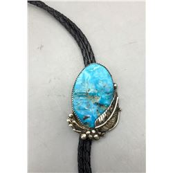 Turquoise and Sterling Silver Bolo