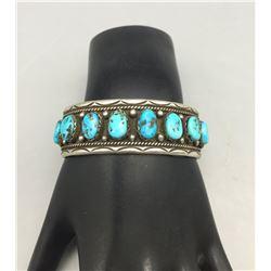 Vintage Eight Stone Turquoise Bracelet