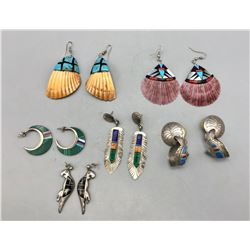 Group of Six Pairs of Earrings
