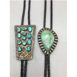 Two Older Turquoise Bolos
