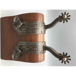 Interesting Silver Inlay Spurs