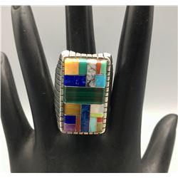Multi-Stone Turquoise Inlay Ring