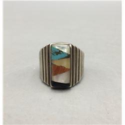 Vintage Multi-Stone Inlay Ring