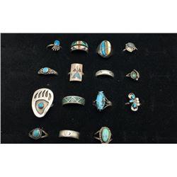 Group of 15 Vintage Rings